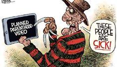 Editorial cartoon: Planned Parenthood horror movie | Washington Examiner