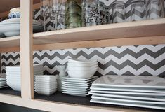 Chevron Shelf Liner Idea