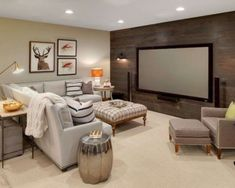8 of the Coolest Basement Hangouts By Bryan Anthony, Houzz Whether it's adding tiered seating for the ultimate viewing experience or building a second kitchen to draw a crowd, there have Basement Living Rooms, Basement Furniture, Basement Walls, Furniture Layout, Furniture Ideas, Basement House, Basement Flooring, Antique Furniture, Modern Furniture