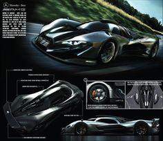 Mercedes-Benz SL GTR Concept - Design Panel