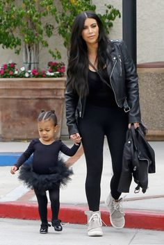 Kim and North West