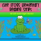 These frog themed sight word strips are a great way to get your kiddos reading and enjoying it too! These Dolch sight words are printed in vertical...