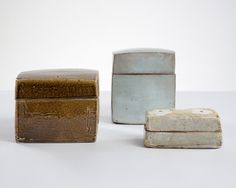 View this item and discover similar for sale at - 'Pale Blue Medium Square Shaped Ceramic Box with a Lid,' glazed ceramic. Designed and made by Hun-Chung Lee, Korea, Pottery Bowls, Ceramic Pottery, Pottery Art, Glazed Ceramic, Ceramic Clay, Wabi Sabi, Chung Lee, Decorative Objects, Decorative Boxes