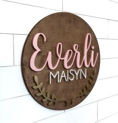 "Indoor//Outdoor  24/"" Wide EVERETT Street Sign Childrens Name Room Sign"