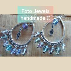 Σκουλαρικια boho σε σχημα δακρυ με φεγγαροπετρες 10€ Charmed, Jewels, Boho, Bracelets, Handmade, Fashion, Moda, Hand Made, Jewerly