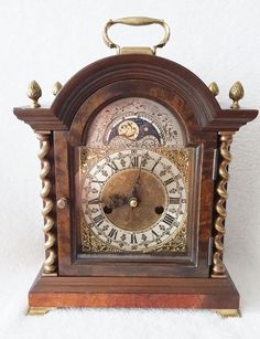 On eBay this Rare Dutch Mantel Shelf Clock Walnut Moon Phase Mid Century 8 Day Pendulum Barley Twist Columns eBay http://cgi.ebay.co.uk/ws/eBayISAPI.dll?ViewItem&item=391582940875&ssPageName=STRK:MESE:IT …