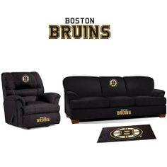 Boston Bruins Microfiber Furniture Set