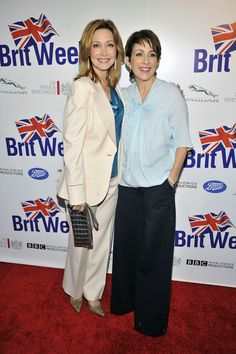 @sharonlawrence and @PatriciaHeaton at the #Britweek launch.