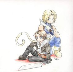 Final Fantasy Squall and Zidane