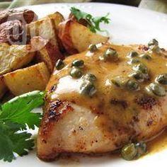 Pechugas de pollo en crema de alcaparras @ allrecipes.com.mx
