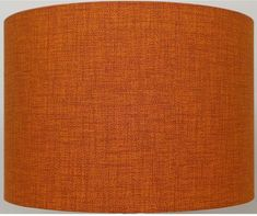 You are bidding on a New Burnt Orange / Rust Double Weave Linen light and dark Effect Lampshade , Not a solid color. Each shade is individual due to the pattern of the material and size of shade required. The shade is available to use as a Table Lamp or Ceiling. Just choose the size you require. Seven sizes are available and the dimensions are listed below. Comes with a European 40mm centre and a British 28mm adapter so will fit all types of Lamp holder. Dimensions:- Diameter 20 (50cm)…
