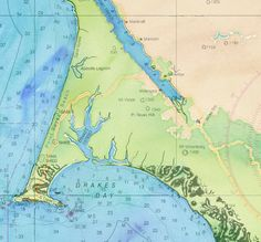 Watercolor maps from @stamen combined with NOAA Nautical charts makes a beautiful #map.