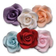 """NY Cake Icing Roses - Lavender - 1¼"""" - 8 pcs Golda's Kitchen"""