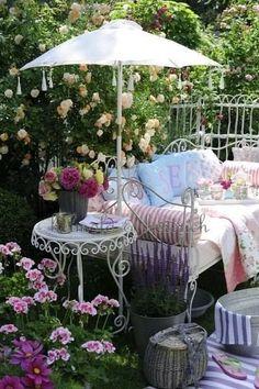 Inspiración terraza romántica