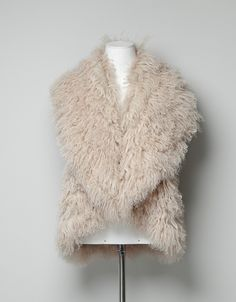 White Fur Gilet: beautiful by itself or with a belt on top