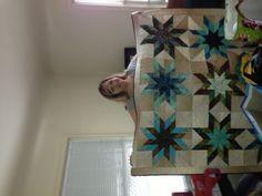 Lone Starburst quilt, Christmas 2012