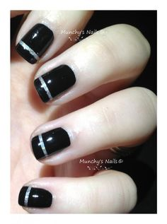 striped mani from Munchy's Nails
