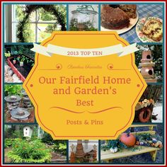 Our Fairfield Home and Garden's Top 2014 Posts - lots of creative home and garden projects