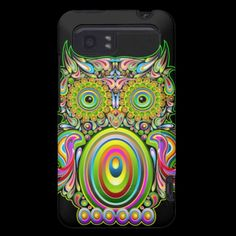 #Owl #Psychedelic #Design #HTC Vivid #Cases © Bluedarkat