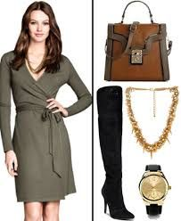 How to accessorize a wrap dress..how to wear a wrap dress..what shoes to wear with wrap dress...what jewelry to wear with wrap dress