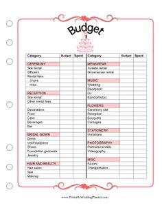 free wedding planning tools books