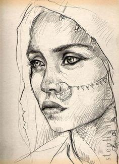 Stéphanie Ledoux #art #portrait