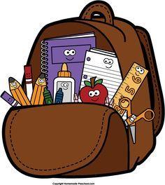 Clip art on fall clip art school backpacks and clip School Images, Binder Covers, Digi Stamps, Cartoon Kids, School Backpacks, First Day Of School, School Supplies, Preschool, Classroom