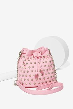 Nasty Gal x Nila Anthony Stud Out Mini Bucket Bag Backpack Purse, Clutch Bag , 5f17158485