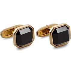 Dolce+&+Gabbana+Gold-Plated+Onyx+Cufflinks