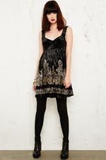 Free People Crushed Velvet Dress in Black at Urban Outfitters