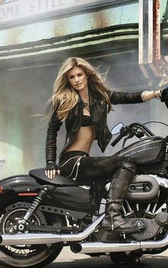 Sexy biker outfit for women.
