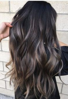 22 New Gorgeous Hair Color Trends For 2019 - Marvelous gray to brown hair color on long wavy hair - color Gorgeous Hair trends 666180969865845873 Brown To Blonde Balayage, Brown Ombre Hair, Brown Blonde Hair, Ombre Hair Color, Hair Color Dark, Hair Color Balayage, Hair Highlights, Red Ombre, Gray Hair