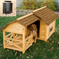Barn Dog House with Heater - Dog Houses at Dog Houses