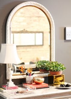 the perfect little entryway table