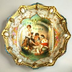 """RS PRUSSIA CHINA PORCELAIN GROUP """"THE  MELON EATERS"""""""