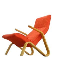 Eero Saarinen   Knoll International   1946 Grasshopper   Lounge Chair   eames