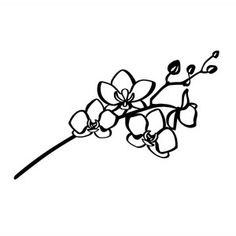 Welcome to the Silhouette Design Store, your source for craft machine cut files, fonts, SVGs, and other digital content for use with the Silhouette CAMEO® and other electronic cutting machines. Shape Tattoo, Tattoo Outline, Orchid Flower Tattoos, Orchid Drawing, Detailed Tattoo, Geometric Poster, Constellation Tattoos, Star Tattoos, Finger Tattoos