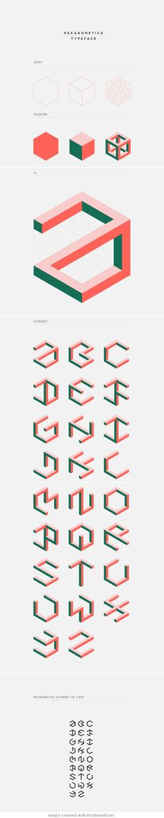 This alphabet is wonderful. The Illusion take on these letters is… Web Design, Logo Design, Graphic Design Typography, Typography Inspiration, Graphic Design Inspiration, Types Of Lettering, Hand Lettering, Logo Typo, Schrift Design