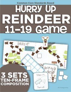 decomposing teen numbers cool math game - KindergartenWorks