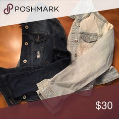 JEAN JACKET BUNDLE Both brand new never worn! Fits xs or slight small! Jackets & Coats Jean Jackets