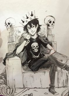 Nico di Angelo | art by minuiko <<Words cannot express how much I love this<<and honey you should see me in a crown