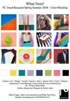 #Colortrends #Colorblocking #Wgsn