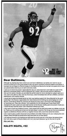 #92 Says goodbye in the Baltimore Sun 3/15/15