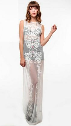 Skeleton Dress Stolen Girlfriends Club | Fasshonaburu Fashion and Shopping Blog