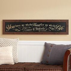 Personalized wooden love sign - great for your 5th anniversary