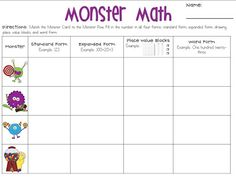 Ways to Write a Number: Monster Math