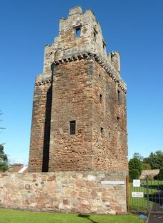 Preston Tower is a four storey L-shaped tower house located on the edge of Prestonpans, East Lothian, Scotland.  It was set on fire three times before the Hamilton family abandoned it for nearby Hamilton House in the mid 17th century.