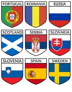 Slovenia, Porsche Logo, Romania, Flag, Stickers, Logos, Cards, Logo, Science