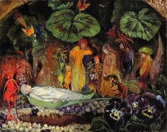 "John Anster Fitzgerald (1832-1906), ""Death of the Fairy Queen"" by sofi01, via Flickr"