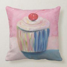 Shop Designer Cupcake Pillows - Customizable - Gifts created by libertydogmerch. Custom Pillows, Decorative Throw Pillows, Custom Posters, Art Posters, Cupcake Art, Design Your Kitchen, Dog Store, Customizable Gifts, Pillow Room